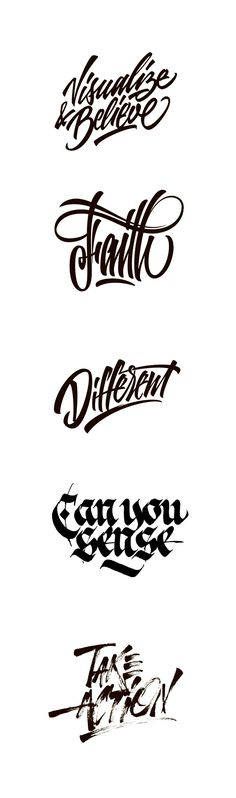 Fantastic lettering by Sergey Shapiro