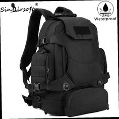 51.99$  Buy here - http://alidag.worldwells.pw/go.php?t=32750483797 - Sinairsoft Men Army Waterproof 45L Outdoor Backpack Travel Tactical Combination Camping Bags Large Capacity Shoulder Bags