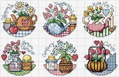 Schema punto croce Teapot Herbs