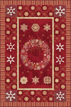 "Starry Nights Snowflakes - PTN1116 Diane McGregor of Castilleja Cotton Size: 46 1/2"" x 70 1/2"""