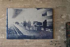 Inkodye image stretched on canvas