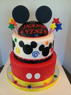 Mickey Mouse 1st Birthday Cake, via Flickr.