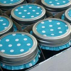 Cupcake liners as mason jar covers