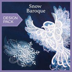 Snow Baroque (Design Pack) design (UTP1746) from UrbanThreads.com