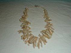 vintage mother of pearl spikes bib by qualityvintagejewels on Etsy