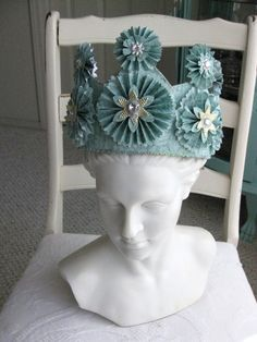 Paper Crown for Princess or Queen. $65.00, via Etsy.