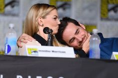 'Once Upon a Time's' Jennifer Morrison gives a kiss to co-star Colin O'Donoghue at Comic-Con, July 23, 2016