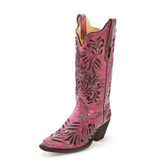 Corral Pink Sequin Cowgirl Boots