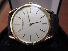 Vintage Vacheron Constantin FANCY LUGS Solid 18k Yellow Gold Hand Winding Watch