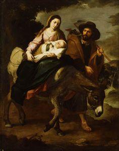 Huida de Egipto, Bartolomé Esteban Murillo, Luis Fernando Serna.