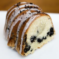 Oreo Cookie Pound Cake - withsprinklesontop.net - so so good! Next time I might try and blend the Oreos all the way through rather than keep them in bunches, just to see how it turns out. But this was yummy and definitely a keeper! I only did a cup of powdered sugar for the glaze and added milk til it was the consistency I wanted, and it turned out perfectly!