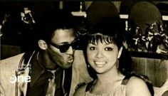 David Ruffin and Tammi Terrell. She was a legendary musician who had horrible taste in men including this idiot in the picture with her, due to her traumatic childhood.