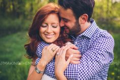 The light fell just right at Amanda and Josh's engagement session.