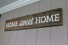 Home Sweet Home Sign Handpainted on Reclaimed Wood by BCoArt, $65.00
