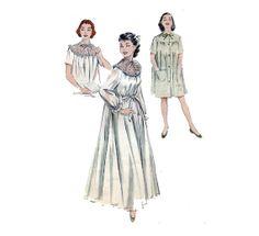 50s Peignoir Sewing Pattern Short Nightgown by HoneymoonBus, $19.99