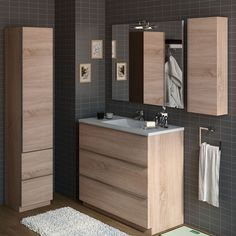 Bathroom Mirrors Diy, Small Bathroom Vanities, Bathroom Vanity Cabinets, Bathroom Toilets, Simple Bathroom, Bathroom Furniture, Bathroom Interior, Bathroom Window Coverings, Washroom Design