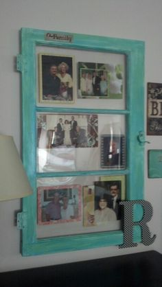 My new photo frame from a repurposed window pane!!