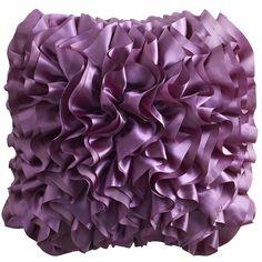 Purple Flounce Pillow - Pier1 US
