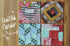 Personalized cards are so much better than buying them at the store. And I can practice my sewing skills!
