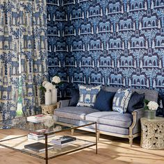 Leading Fabrics and Wallpaper designer, Nina Campbell available exclusively from Osborne and Little