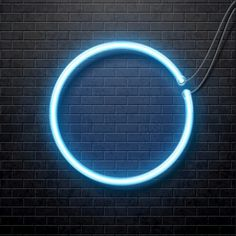 Neon blue circle isolated on black brick wall Vector Image , Dark Background Wallpaper, Blue Background Images, Studio Background Images, Background Images For Editing, Neon Wallpaper, Background Images Wallpapers, Photo Backgrounds, Dark Backgrounds, Hipster Wallpaper