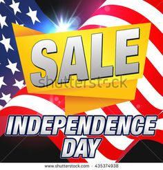4th of July Sale Banner. Independence Day Sale Card. #patriotic #independenceday #july4th #4thofjuly