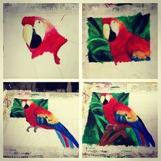 Megan's Process of her animal pastel