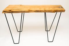 Live Edge Beech Timber Side Table with Pewter by Kodastudios, £275.00