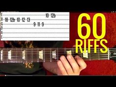 How to Play 60 Rock Riffs ♫ ♪ ♫ ♪ - YouTube