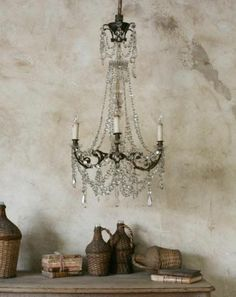 I want this chandelier. No scratch that - I NEED this chandelier! Decor, French Decor, Renovation Design, Beautiful Chandelier, Shabby, Rustic Elegance, Beautiful Lighting, Neutral Interiors, Chandelier
