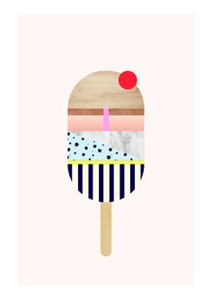Conceptual Poster Design Each day, graphic designer Alex Proba publishes a new… Art Et Design, Web Design, Illustration Arte, Graphic Design Illustration, Ice Cream Illustration, Graphic Prints, Graphic Art, Logos Retro, Plakat Design