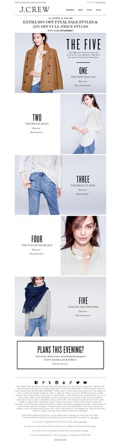 J.Crew - The Winter Five are here - Patroneer