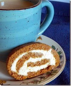 PUMPKIN ROLL THM-S Baking Blend 2/3 c old fashion oats 1/3 c oat fiber THM Pumpkin Roll 2/3 c baking blend 3 eggs 1 t cinnamon ½ c sweet blend ½ t soda 2/3 c pumpkin Bake at 350 for 10 to 12 mins. Sprinkle with powdered sweet blend. Roll/cool/unroll/fill. Filling: 1 pkg of 1/3 cream cheese 3 T butter 1 t vanilla ½ c powdered sweet blend 4 oz of chopped pecans