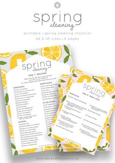 The Ultimate Spring Cleaning Checklist - free printable - Ducks all in a row Declutter Bedroom, Declutter Your Home, Move In Cleaning, Deep Cleaning, Cleaning Recipes, Cleaning Hacks, Organisation Hacks, Organization, Spring Cleaning Checklist