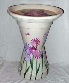 Terracotta diy bird bath