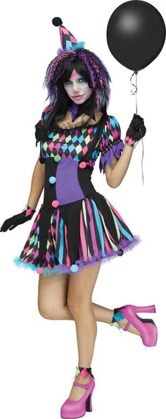 Adult Twisted Circus Clown Costume   | eBay