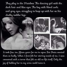 Peeta & katniss's children Mockingjay epilogue.