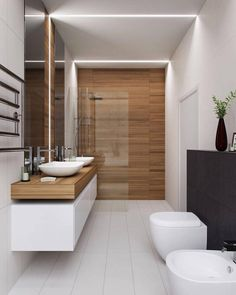 The other small bathroom design ideas are fresh and revolutionary, rethinking what we expect a bathroom design should look like. design badezimmer 10 Small Bathroom Ideas for Minimalist Houses Houzz Bathroom, Small Bathroom Tiles, Modern Bathroom Design, Bathroom Interior Design, Bathroom Designs, Bathroom Goals, Interior Ideas, Bathroom Mirrors, Bathroom Cabinets