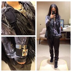 Road kill. #faux #lanvin pour #hm #vest #isabelmarant pour #hm #tee #zara #charm #necklace #hermes #kellydog #cuff #enamel #vince #leather #sweatpants #adidas #adidasoriginals #wedgesneakers #kicks #sneakers #msneakerpimp #blogger #style #fashion #mystyle #ootd #instastyle #instagood #wearingnow #whatiwore #photooftheday #pictureoftheday