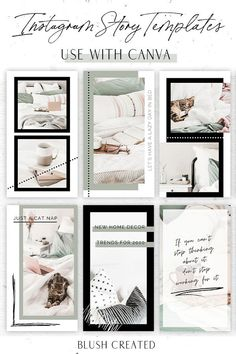 Create stylish and fun Instagram stories with these green and black Instagram templates. These templates are easy to use and customizable in Canva. Start branding your Instagram with these Canva Instagram story templates. | Blush Created