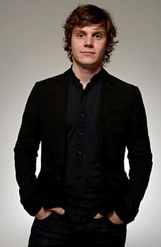 Evan Peters - It's okay; he's 27, not 17. I thought I had problems...