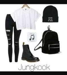 Really like korean fashion outfits 8314813585 Kpop Fashion Outfits, Edgy Outfits, Cute Casual Outfits, Mode Outfits, Dance Outfits, Girl Outfits, Korean Outfits Kpop, Swag Outfits, Punk Fashion