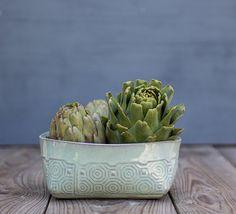 Ceramic Serving Bowl  Fruit Bowl  Mint Green Bowl  by FreeFolding