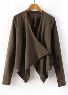 Enchanting Solid Brown Long Sleeve Cardigans for Woman