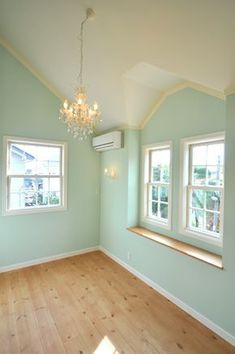 ◆ 【WEB内覧会】 ~子供部屋(girl's room)~ | Dear Days Mint Rooms, Green Rooms, Tiffany Blue Rooms, Romantic Bedroom Colors, Room Wall Painting, Girl Bedroom Designs, Interior Exterior, Girl Room, Bedroom Decor