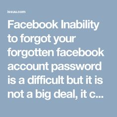 Facebook Inability to forgot your forgotten facebook account password is a difficult but it is not a big deal, it can easily be retrieved with the aid of our proficient techies. Our team of qualified troubleshooters guides you step-by-step towards your problematic issue. So, don't be confused. Just pick your phone and dial our toll-free Facebook Contact Number 1-877-776-6261 to get the effective solutions at with minimum hassle. For more info visit official website