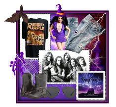 """Deep Purple"" by silvijo ❤ liked on Polyvore featuring Diesel, Michael Kors, bandtshirt and bandtee"