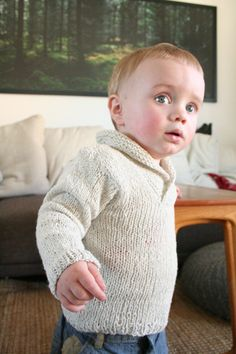 Oh, handsome sweater - free knitting pattern  size 12-18 m  Pickles