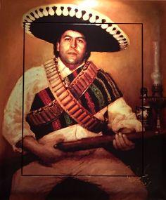 Peter Donkersloot schilderij Pablo Escobar   Excellent Art Utrecht - Holland