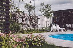 outside living, swimming pool